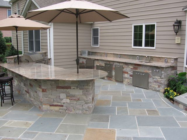 Outdoor cooking area outside the house pinterest for Outside cooking area