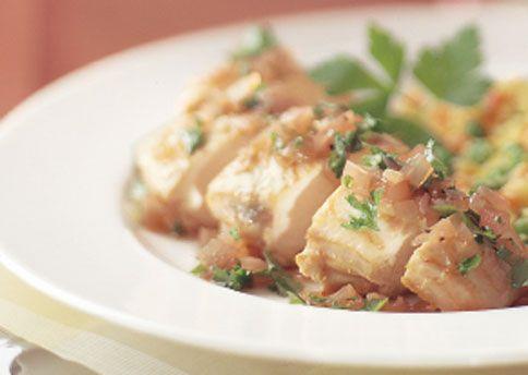 Chicken with Shallot-Herb Vinaigrette Begin marinating the chicken ...