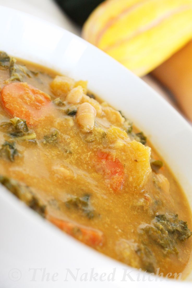 Creamy Kale and Roasted Vegetable Soup | Yummi | Pinterest