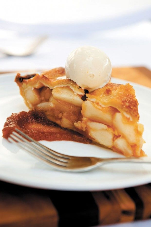 Deep-Dish Apple Pie with Red Hot Cinnamon Ice Cream