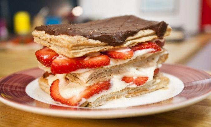 Strawberry Millefeuille | Desserts | Pinterest
