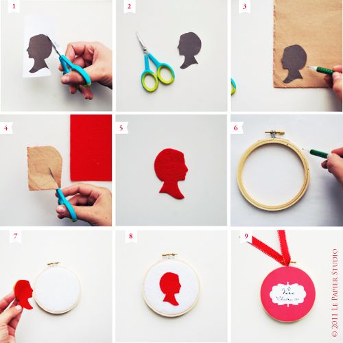 DIY Silhouette Ornaments - #holidayDIY