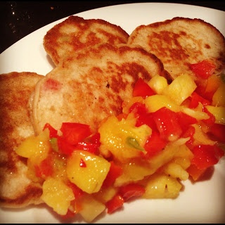 Abbey's Kitchen :: Savory Brown Butter Coconut Pancakes with Mango ...