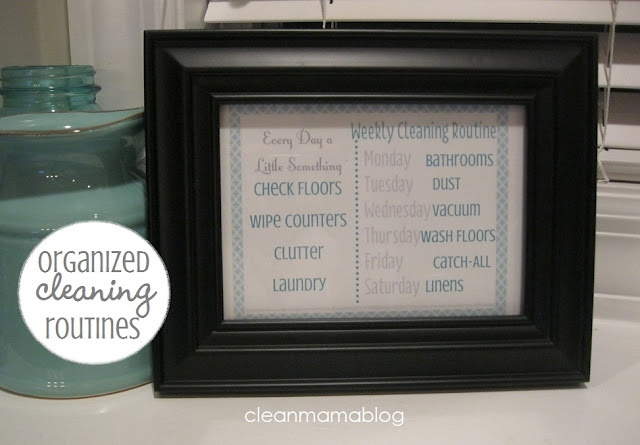 CLEAN MAMA: Organized Cleaning Routine (free printable!)