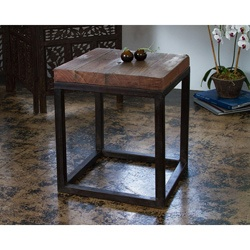 overstock use this contemporary living room side table to