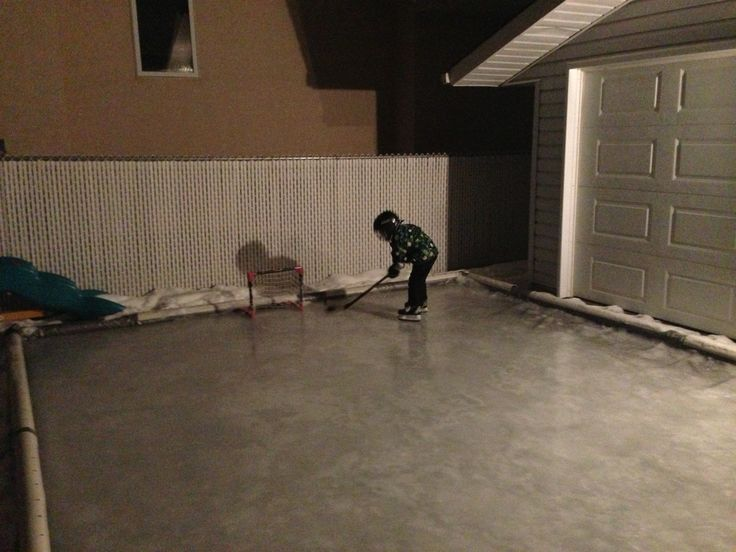 Tarp For Backyard Rink : Make an ice rink in your backyard! Plastic tarp laid down with tubing