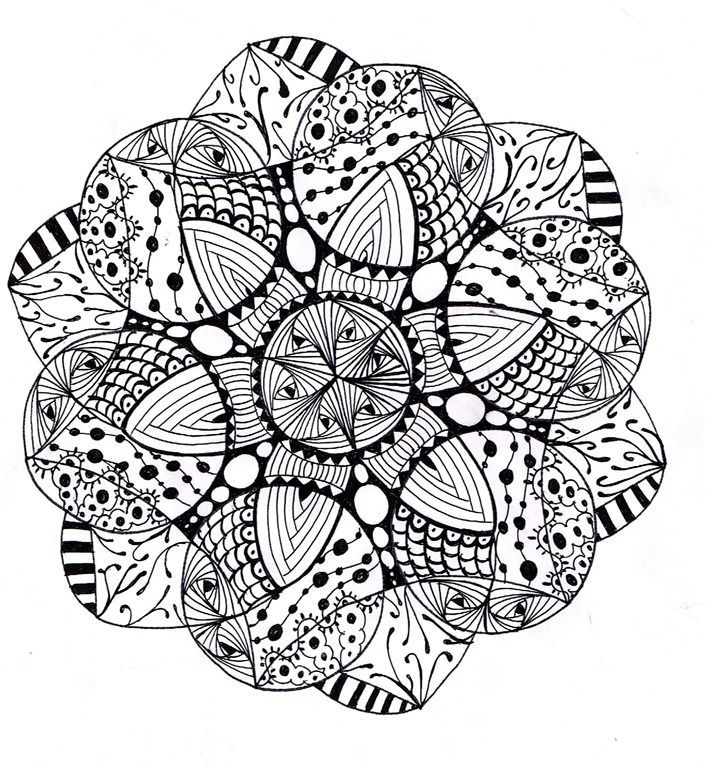 challenging mandala coloring pages - photo#36