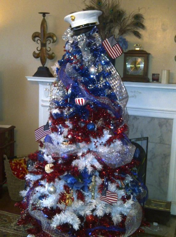 4th of july tree decorations