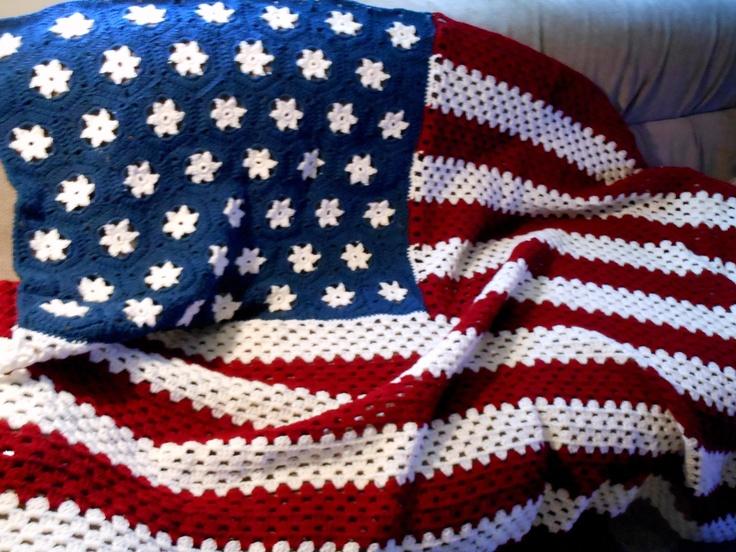 American Flag Afghan Crochet Pinterest