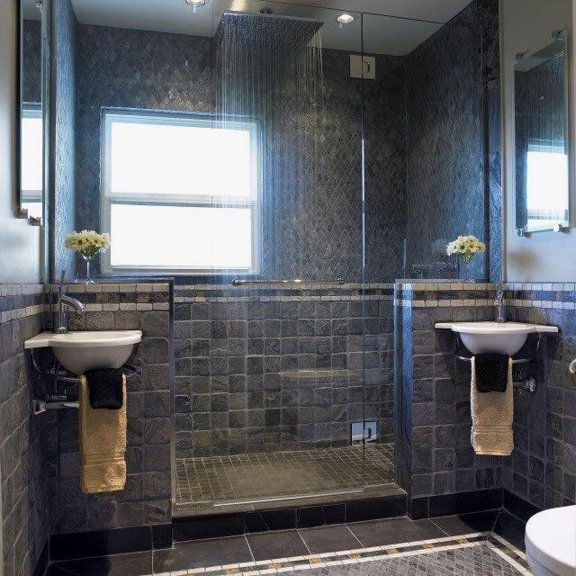 Modern simple dramatic master bath ideas for the casa for Simple master bathroom designs