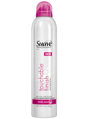 Suave Hairspray , Touchable Finish, i have this, it really works good