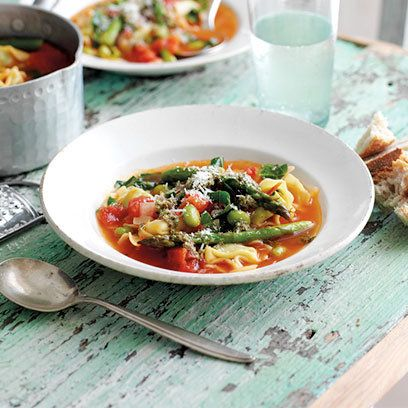 Spring minestrone soup. Find the full recipe and more at RedOnline.co ...