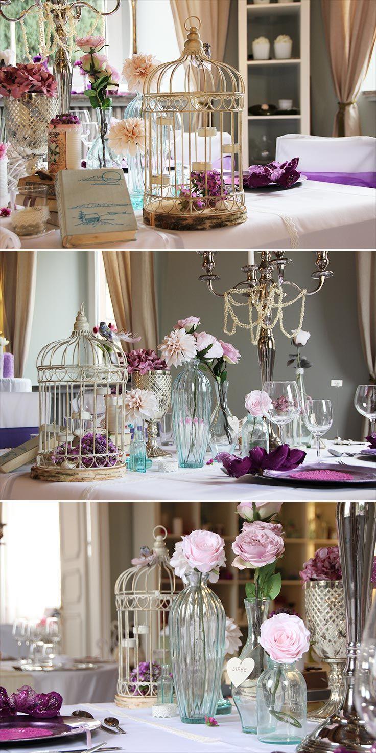 Wunderschöne Vogelkäfige für Tischdeko und Hochzeitsdekoration ...
