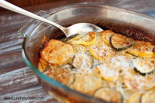Summer Squash Gratin. mmm. this one has cream and cheese, more like a ...