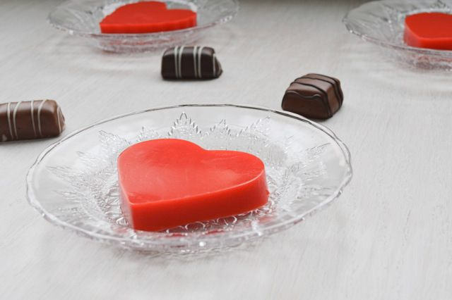 Valentine Jello Hearts (with pudding) | Best of the Best | Pinterest