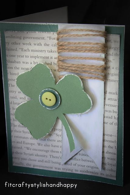 st patrick's day homemade flags