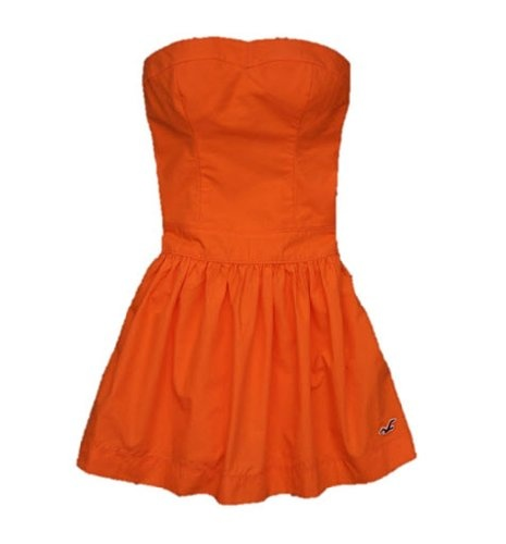 Hollister Solid Color Strapless Womens Dress Clothing Adds Anytime