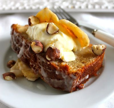 hazelnut & buttermilk banana loaf | Delectable Sweets, cakes and dess ...