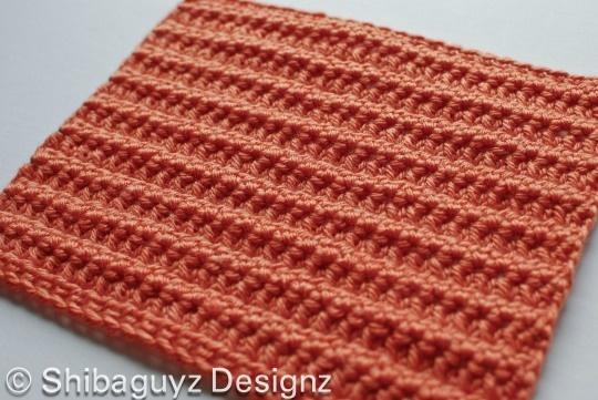 """""""R-R-R-Ridges"""" free crochet afghan block pattern. By Shibaguyz Designz"""