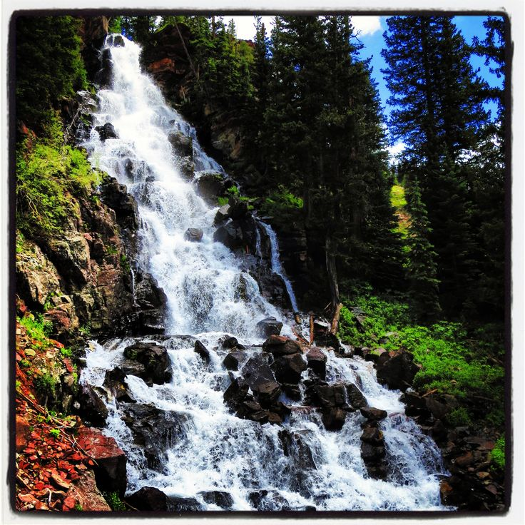 Waterfall In Marble Colorado Hiking
