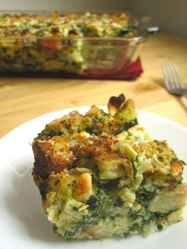 Spinach Breakfast Strata | Recipe