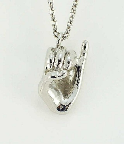 Alpha Kappa Alpha Pinky Hand Sign Pendant from our AKA Jewlery Collection.
