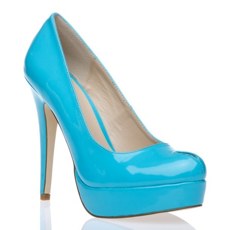 Bright blue! And I like the little peep on the top!
