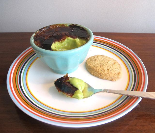 "Avocado ""Creme Brulee"" 