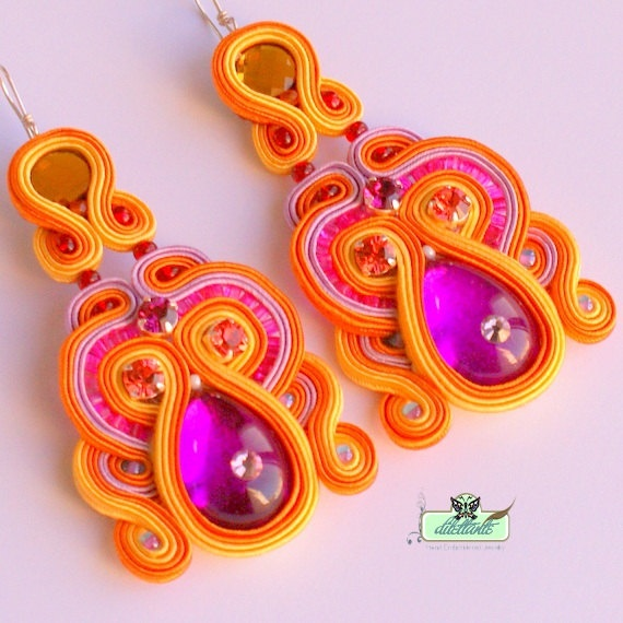 Long Soutache Earrings