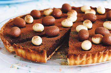 Eat this: Rich Chocolate Easter Egg Tart #easter #eastereggs #baking
