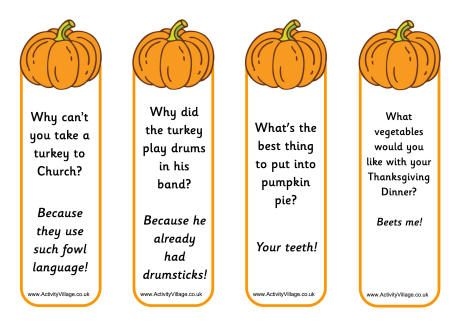 Pumpkin Jokes Bookmarks Autumn Pinterest