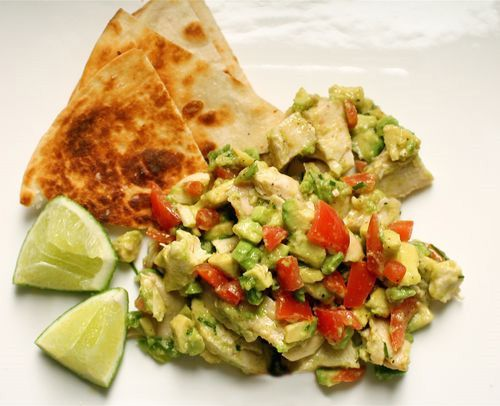 Guacamole Chicken Salad~thebittenword.com had this rolled in a lettuce ...