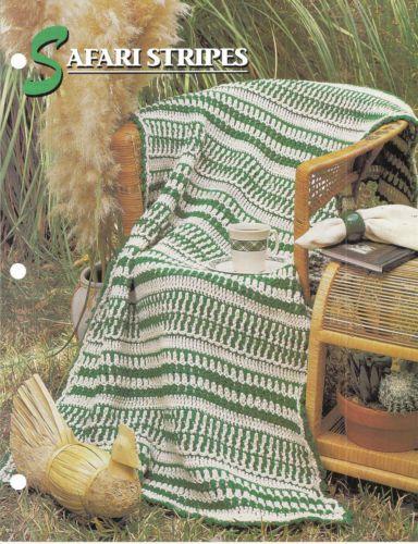 ... Stripes Afghan Crochet Pattern Annies Attic Crochet & Quilt Club