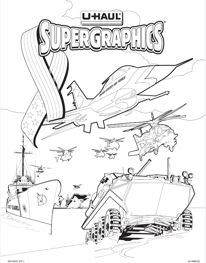 u haul supergraphics coloring contest pages - photo #3
