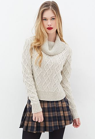 Ribbed Cowl Neck Sweater | FOREVER21 - 2000080958