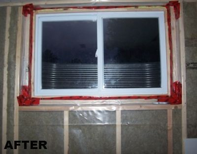after egress window enlarging a basement window before and after