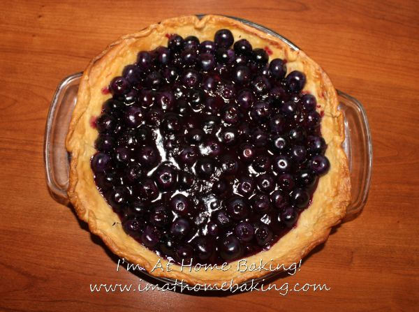 Open Faced Blueberry Pie. | Baking Inspiration | Pinterest