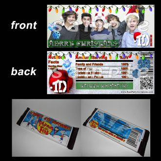 ONE DIRECTION CANDY BAR WRAPPERSOne Candy Bar