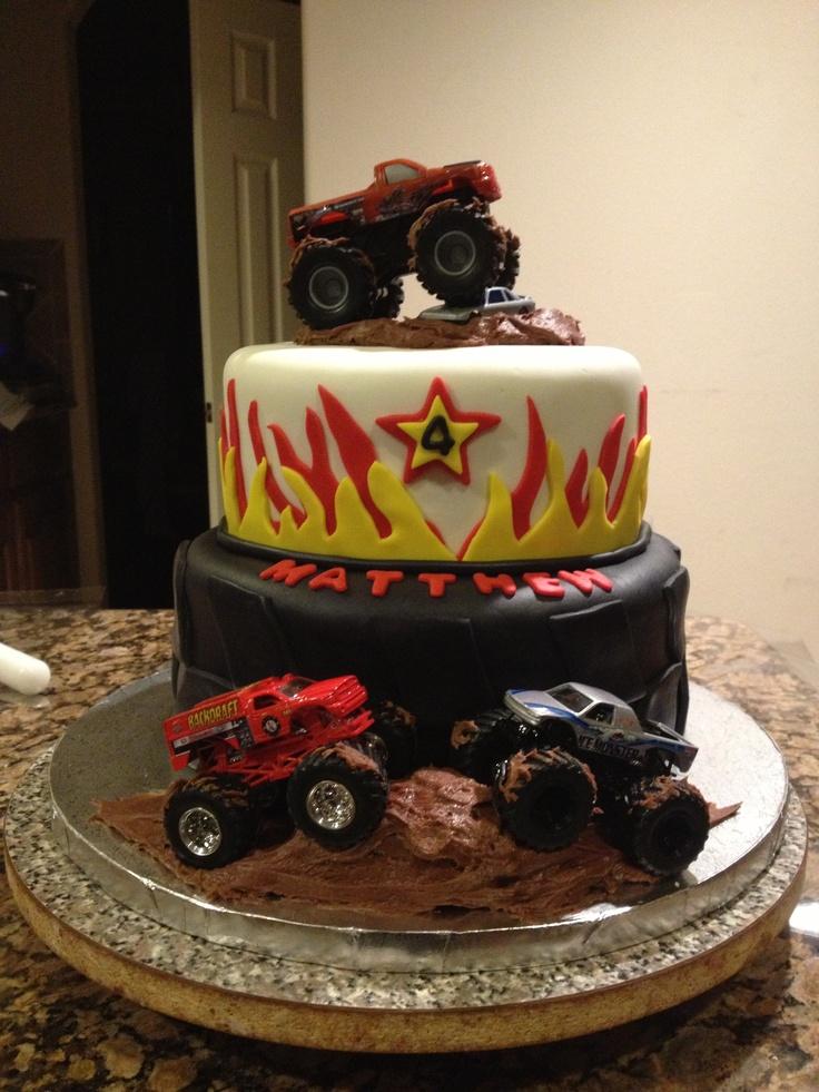 Monster truck cake Cakes... sugar, sugar Pinterest