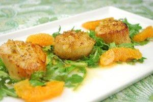 Seared Scallops with Satsuma-Honey Glaze | Food | Pinterest