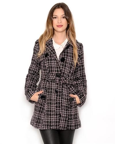 Runway Tweed Trench Coat