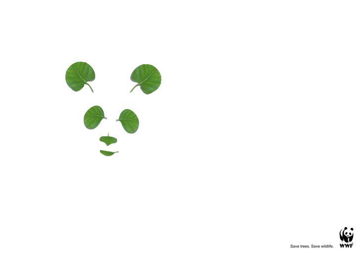 WWF nice art direction. Save trees. Save Wildlife