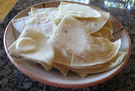 Homemade Baked Tortilla chips | Recipes | Pinterest