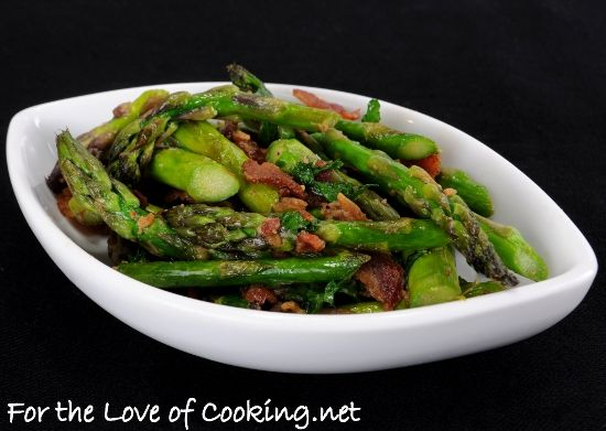 Sauteed Asparagus with Bacon and Dijon from For the Love of Cooking ...