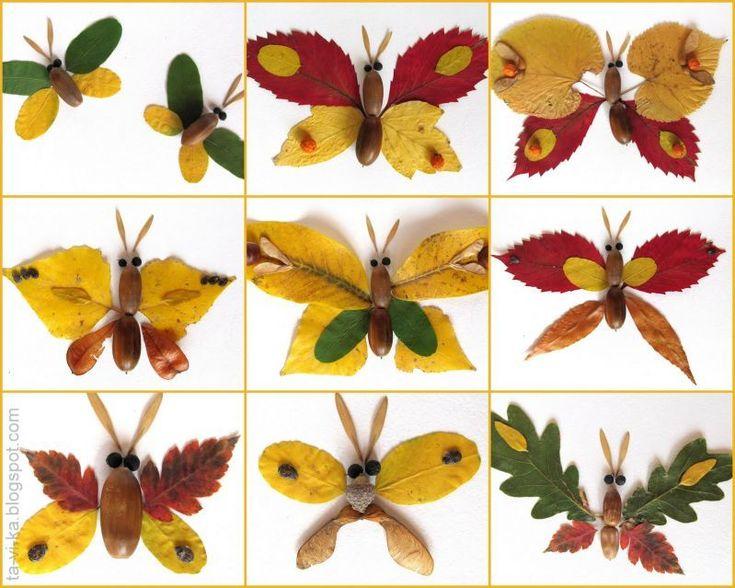 Поделка из гербария в детский сад