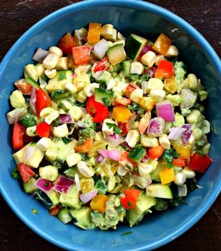 Summer Vegetable Green Goddess Salad: A no lettuce salad that the ...