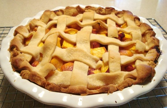 Peach, Vanilla, and Cardamom Pie. TO DIE FOR.