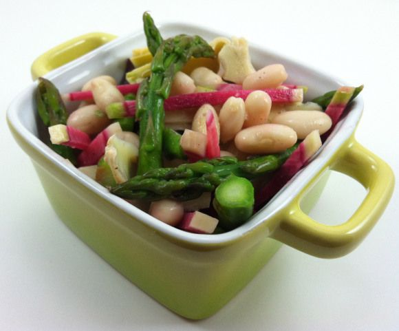 bean asparagus artichoke salad | food | Pinterest