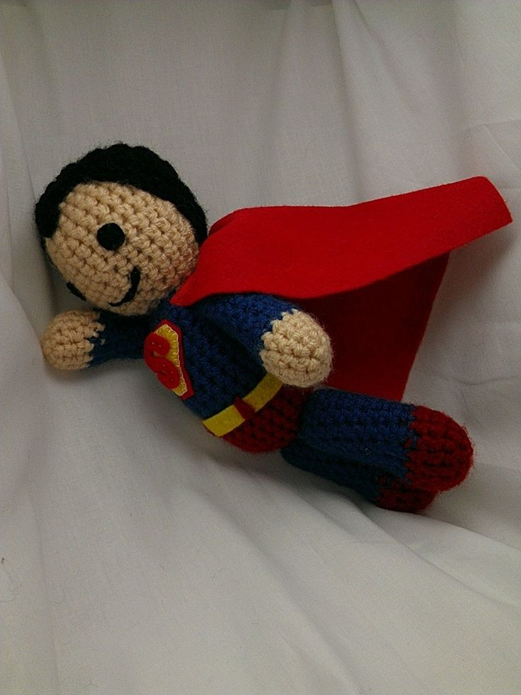 Knitting Pattern Superman Doll : Superman Crocheted Doll Craft Ideas Pinterest