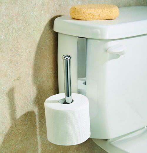 Cistern mount toilet roll holder storage pinterest for Storage for toilet rolls